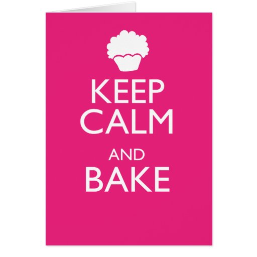 KEEP CALM AND BAKE STATIONERY NOTE CARD