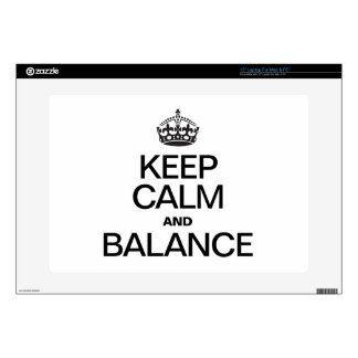 KEEP CALM AND BALANCE SKINS FOR LAPTOPS
