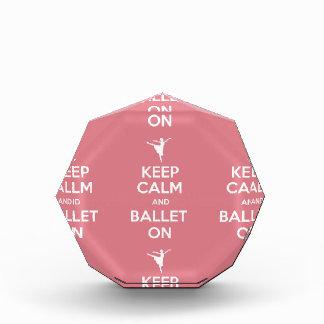 Keep calm and ballet on acrylic award
