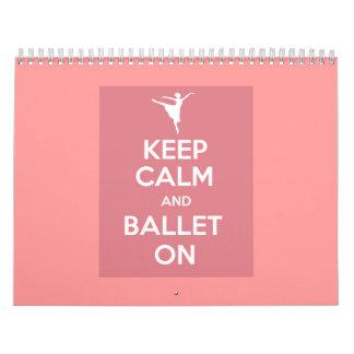 Keep calm and ballet on calendar 2015