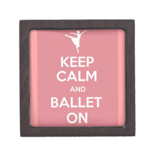 Keep calm and ballet on gift box