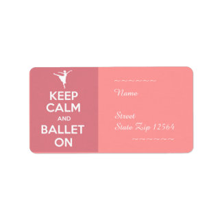 Keep calm and ballet on label