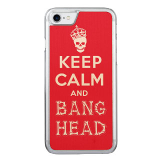Keep Calm and Bang Head!! (white ver.) Carved iPhone 8/7 Case