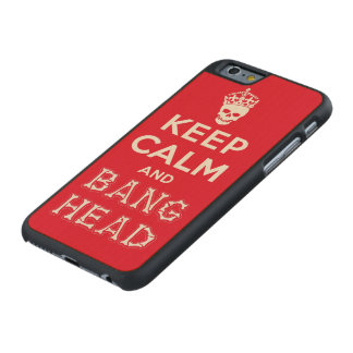 Keep Calm and Bang Head!! (white ver.) Carved Maple iPhone 6 Slim Case
