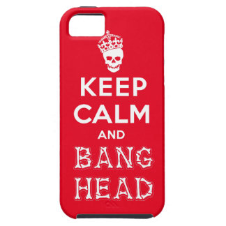 Keep Calm and Bang Head!! (white ver.) iPhone SE/5/5s Case