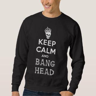 Keep Calm and Bang Head!! (white ver.) Pullover Sweatshirt