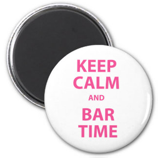 Keep Calm and Bar Time 2 Inch Round Magnet