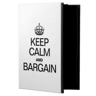 KEEP CALM AND BARGAIN iPad AIR COVER