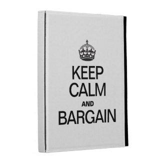 KEEP CALM AND BARGAIN iPad CASES