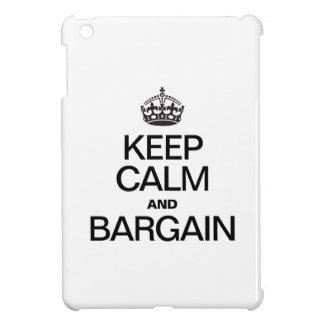 KEEP CALM AND BARGAIN iPad MINI CASES