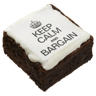 KEEP CALM AND BARGAIN SQUARE BROWNIE