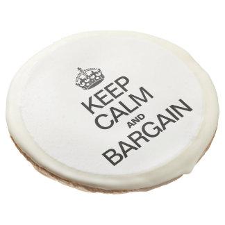 KEEP CALM AND BARGAIN SUGAR COOKIE