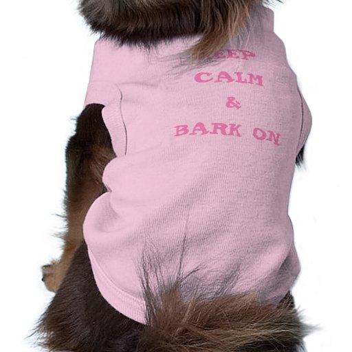 KEEP CALM AND BARK SMALL DOG T-SHIRT