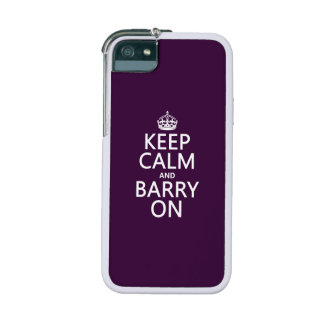 Keep Calm and Barry On any background color iPhone 5/5S Cases
