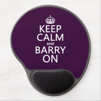 Keep Calm and Barry On (any background color) Gel Mouse Pad