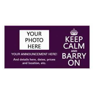 Keep Calm and Barry On (any color) Card