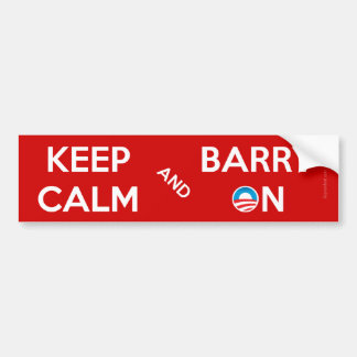 Keep Calm and Barry On Bumper Sticker