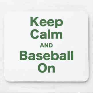 Keep Calm and Baseball On Mouse Pad