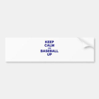 Keep Calm and Baseball Up Bumper Sticker