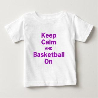 Keep Calm and Basketball On Shirt