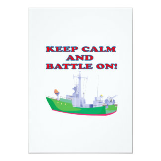 Keep Calm And Battle On Card