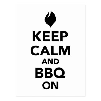 Keep calm and BBQ Grill on Postcard