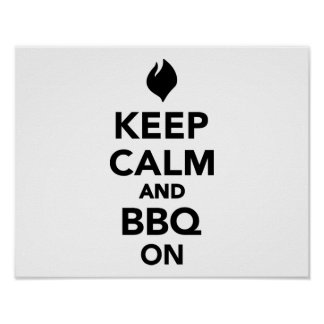 Keep calm and BBQ Grill on Poster