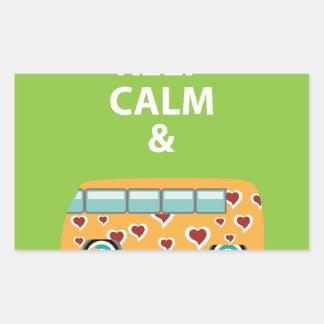 Keep Calm and Be a Hippie Rectangular Sticker