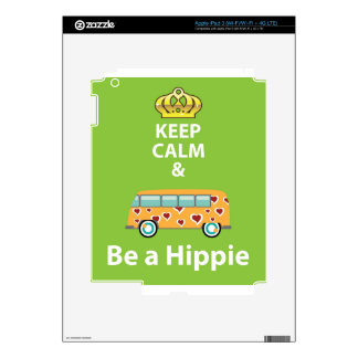 Keep Calm and Be a Hippie Skins For iPad 3