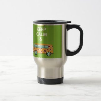 Keep Calm and Be a Hippie Travel Mug