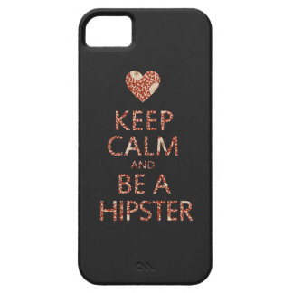 Keep Calm and be a Hipster iPhone SE/5/5s Case