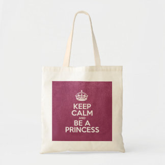 Keep Calm and Be a Princess - Pink Leather Tote Bag