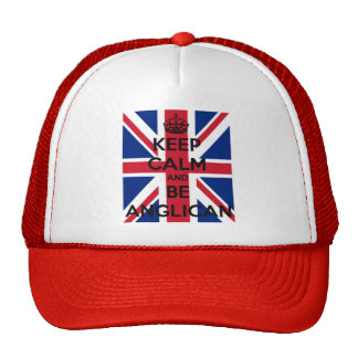 Keep Calm and be Anglican Trucker Hat