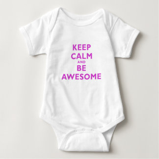 Keep Calm and Be Awesome Baby Bodysuit