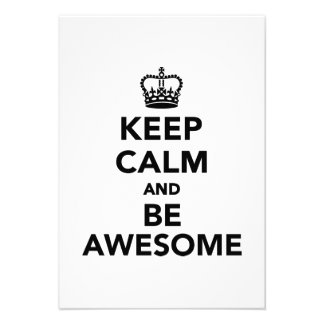 Keep calm and be awesome custom announcement