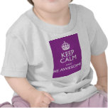 KEEP CALM AND BE AWESOME T SHIRT