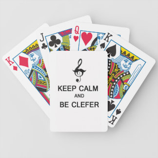 Keep calm and be clefer bicycle card decks