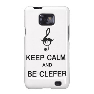 Keep calm and be clefer galaxy SII covers