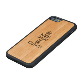 KEEP CALM AND BE CLEVER CARVED® CHERRY iPhone 6 BUMPER CASE
