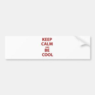 Keep Calm and Be Cool Car Bumper Sticker