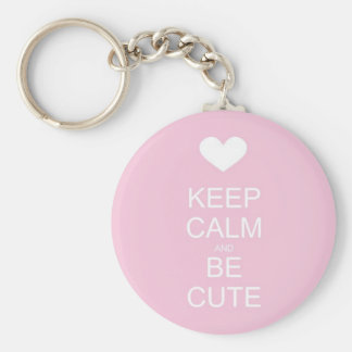 keep calm and be cute keychains