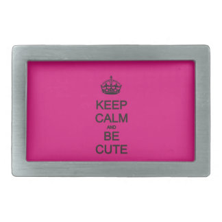 keep calm and be cute neon pink belt buckle