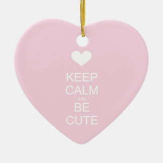 keep calm and be cute ornaments