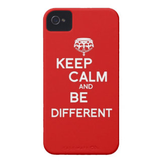 Keep Calm and Be Different iPhone 4 Cover