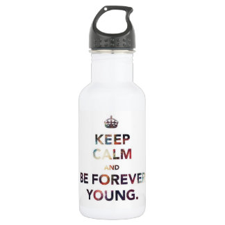 """Keep Calm And Be Forever Young"" Unicorn Travel Water Bottle"