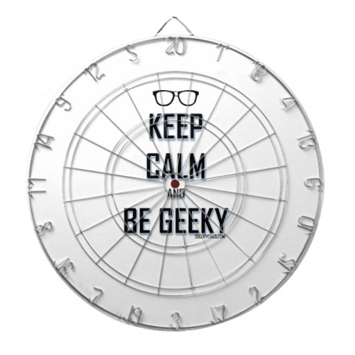 Keep Calm And Be Geeky Dartboard With Darts