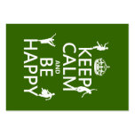 Keep Calm and Be Happy (dance) (customizable) Business Cards
