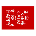 Keep Calm and Be Happy (dance) (customizable) Business Card Templates