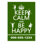Keep Calm and Be Happy (dance) (customizable) Business Card