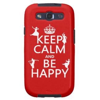 Keep Calm and Be Happy (dance) (customizable) Samsung Galaxy SIII Cover